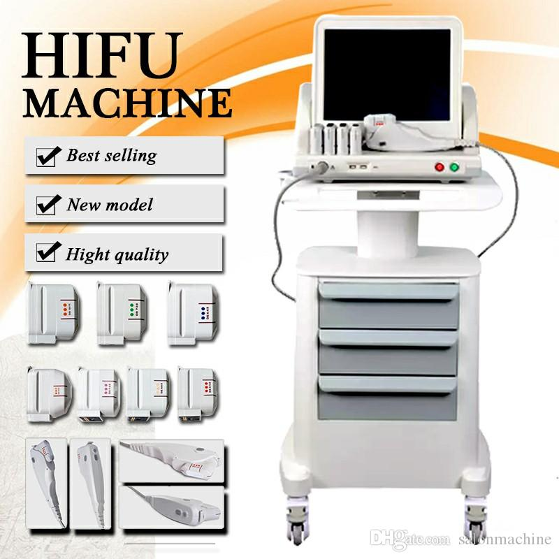 Newest Medical Grade HIFU High Intensity Focused Ultrasound Hifu Face Lift Machine Wrinkle Removal With 5 Heads For Face And Body