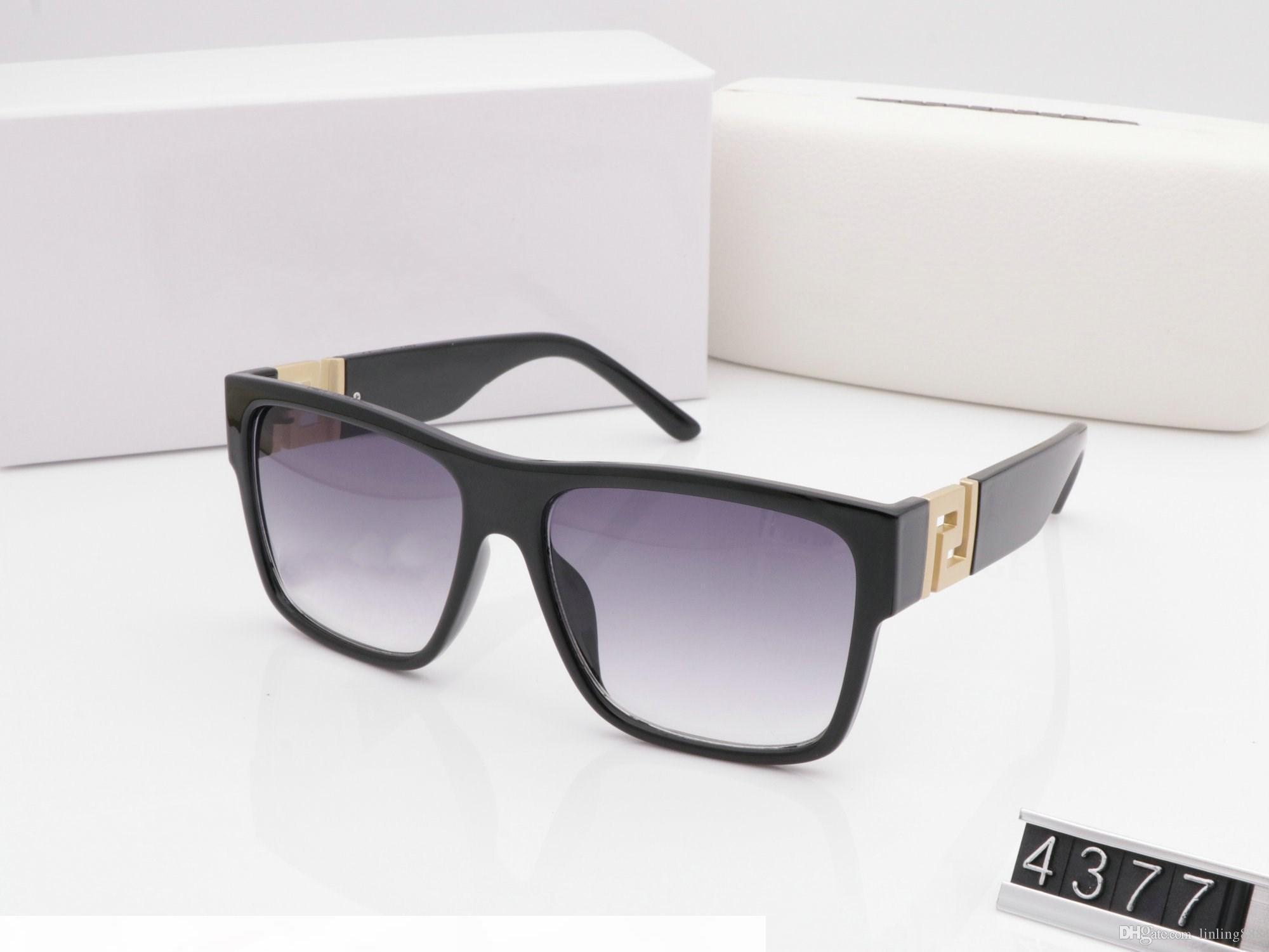 Designer Sunglasses 4377 para mulheres dos homens de luxo Mens Sunglass Moda Sunglases Retro Sun Glasses Ladies Sunglasses Redonda Designer Sunglasses