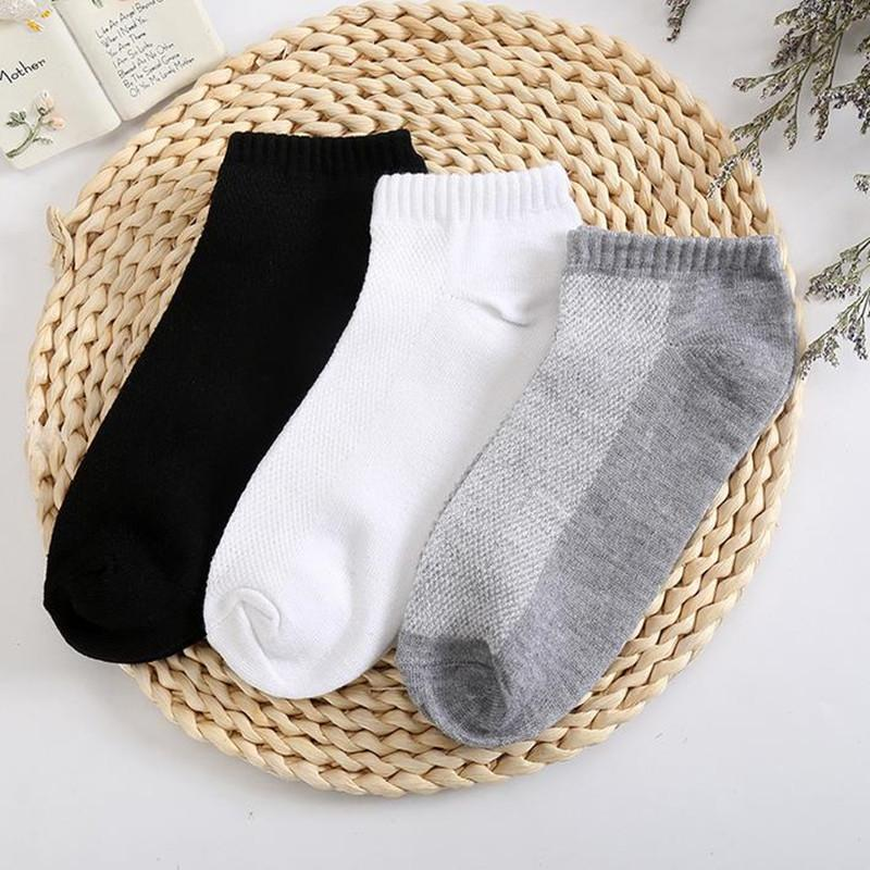10PC=5 Pairs Men's Short Socks Breathable Low Cut Invisible Boat Socks Slippers Comfortable Ankle Men/Male
