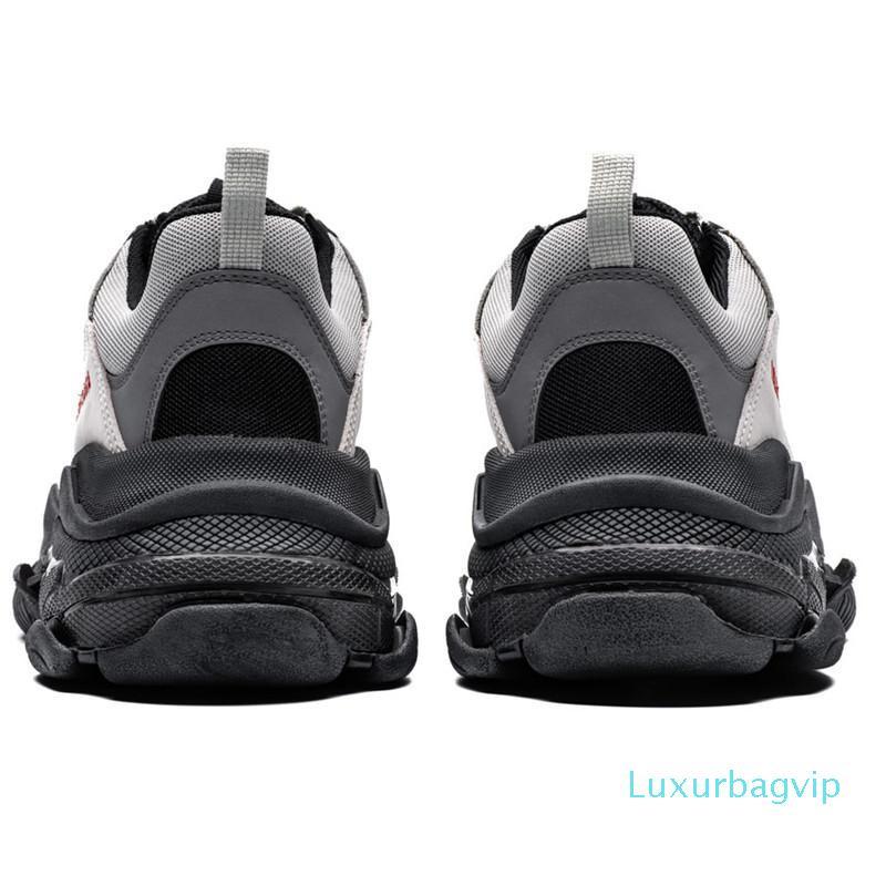 París Triple-S 17FW Crystal Zapatos papá inferior de lujo verde Plataforma Triple S para hombre de las zapatillas de deporte para las mujeres Kanye vendimia viejo abuelo Trainer 489