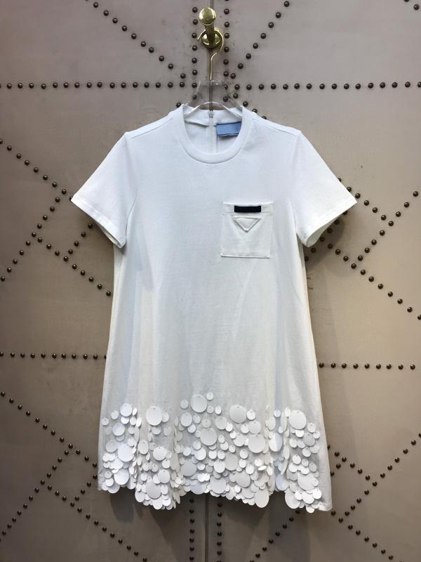 Italy Quality Milano Fashion Summer Runway 100% Cotton Ready to wear collection Dress
