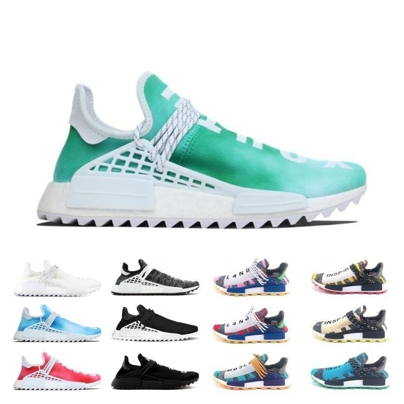 Creme Discount X Nerd Solar Pack Scarpe da corsa da corsa per uomo Pharrell Williams Hu Trail Cream Core Black Equality Trainers Uomo Donna Sneaker