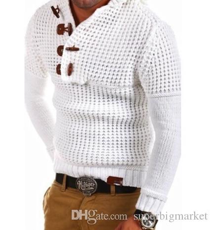 Mens zippé pull en laine pull à manches longues demi-fermeture éclair pull pull tricots hiver cachemire survêtements pour hommes