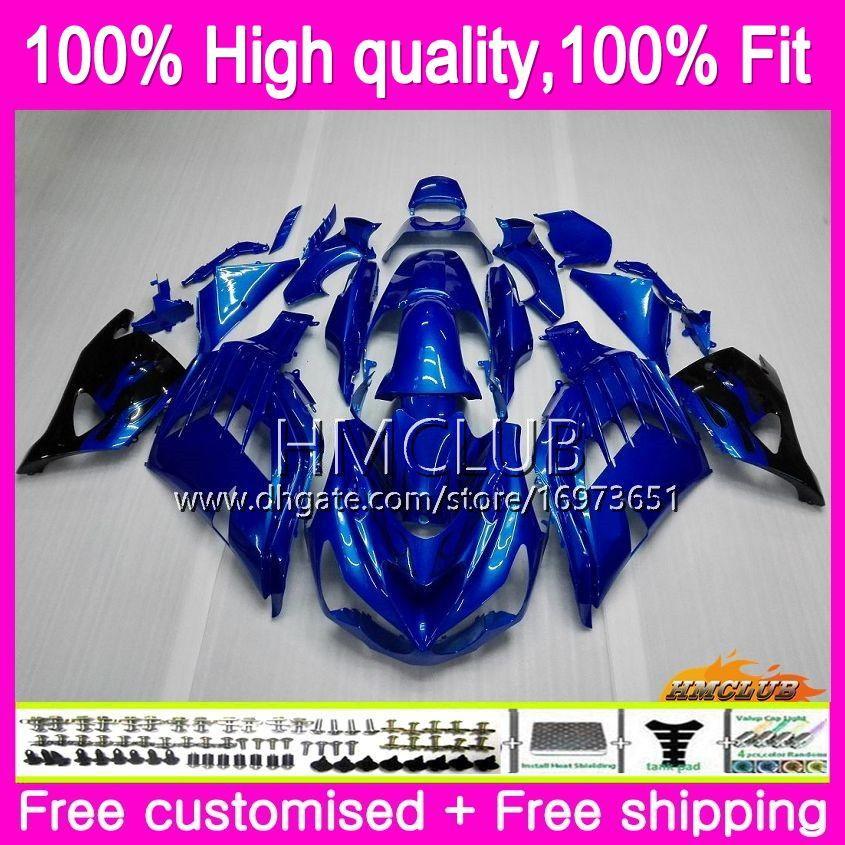 Injection For KAWASAKI ZX 14R ZZR 1400 ZX14R 12 13 14 15 16 17 73HM.15 ZZR1400 ZX-14R 2012 2013 2014 2015 2016 2017 OEM Gloss blue Fairing