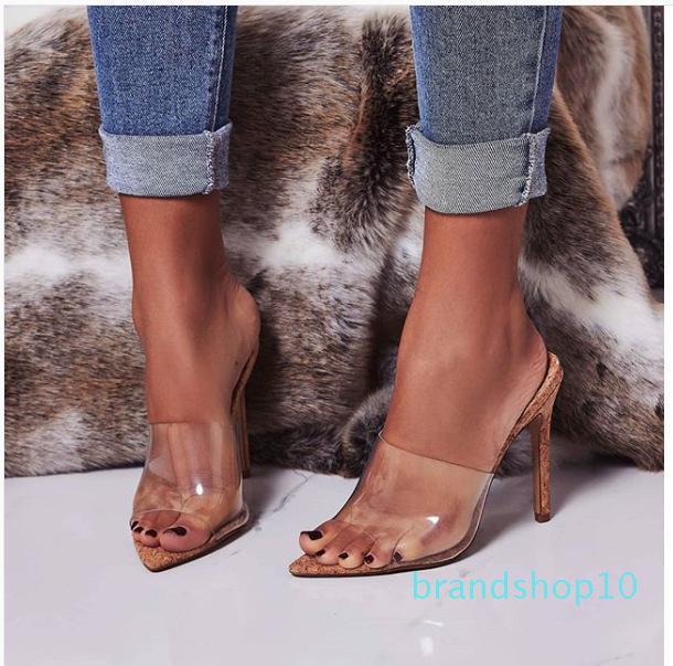 Cute2019 adhésif transparent Année Piece Sandales Femme fin, avec talons Toe 40 Code de femmes Chaussures