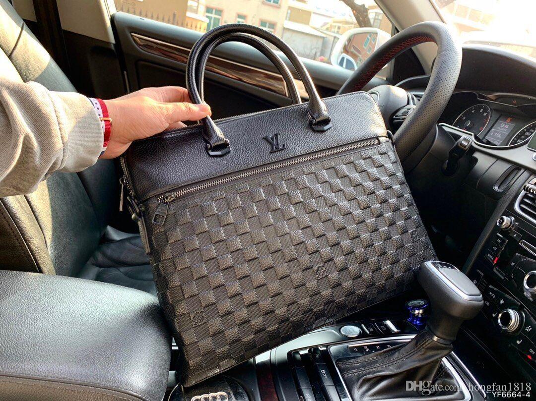 Luxe 2019 NOUVEAU MEN Briefcas Sac de femmes Porte-documents sac à main sac à rabat en cuir Sac d'ordinateur chaîne sacs Crossbody Tote Sac à dos d'achat