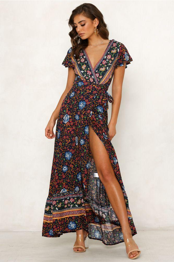 Yaz eğlence sıcak tatil baskı elbise seksi elbise kadın Avrupa ve Amerikan Yaz modası