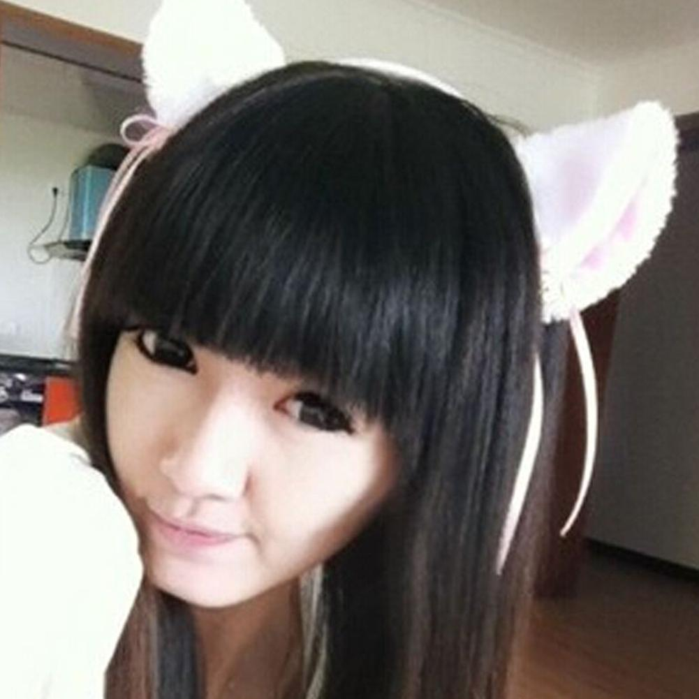 NEW Lolita Cat Ear With Bell Headband COSPLAY Hairbands Girls Headwear Children Hair Clips Women Famale Hair Accessories Wearing