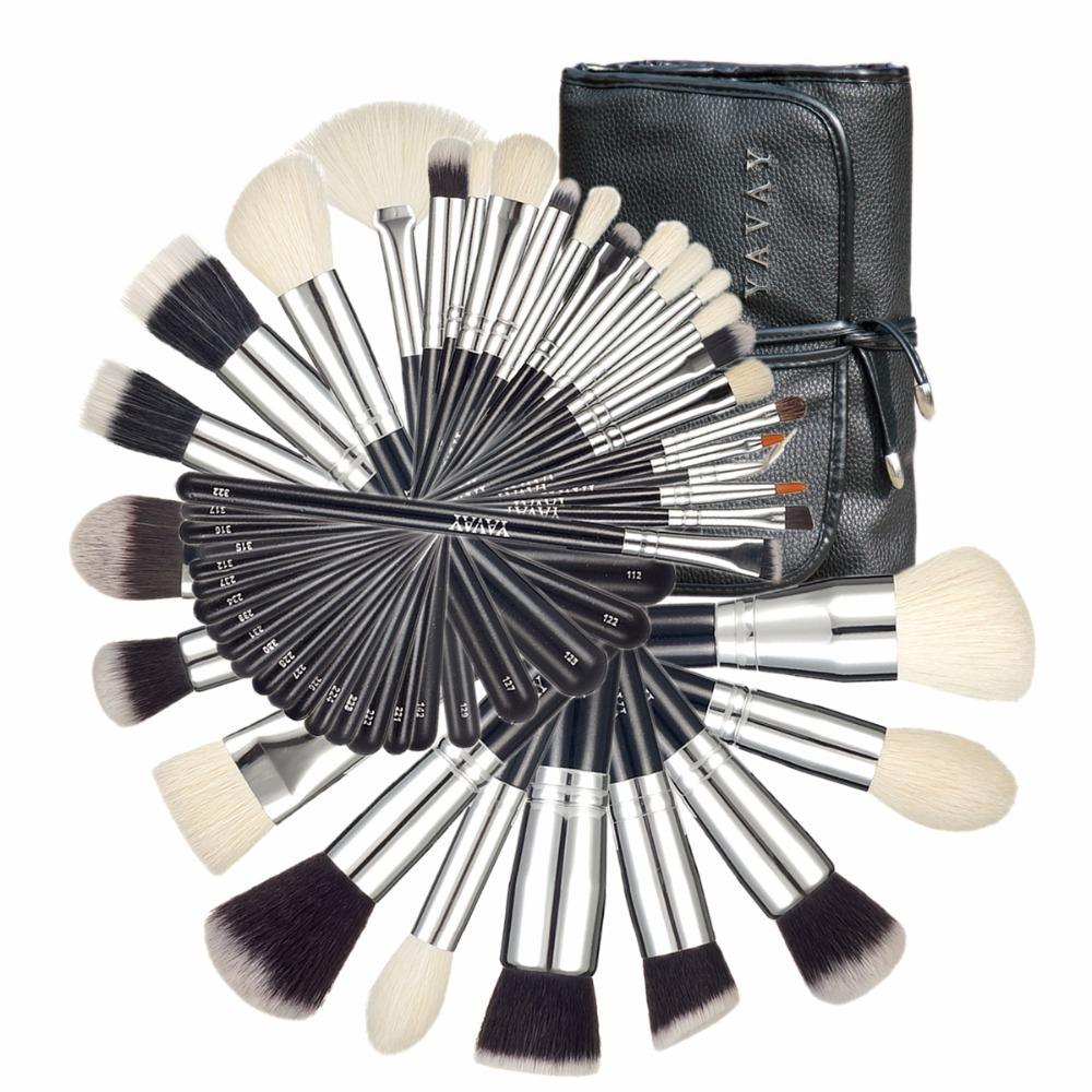 32 pezzi edizione Mestre assemblaggio di pennelli per capra Macio Taklon Professional Makeup Collection artista pennelli kit di strumenti
