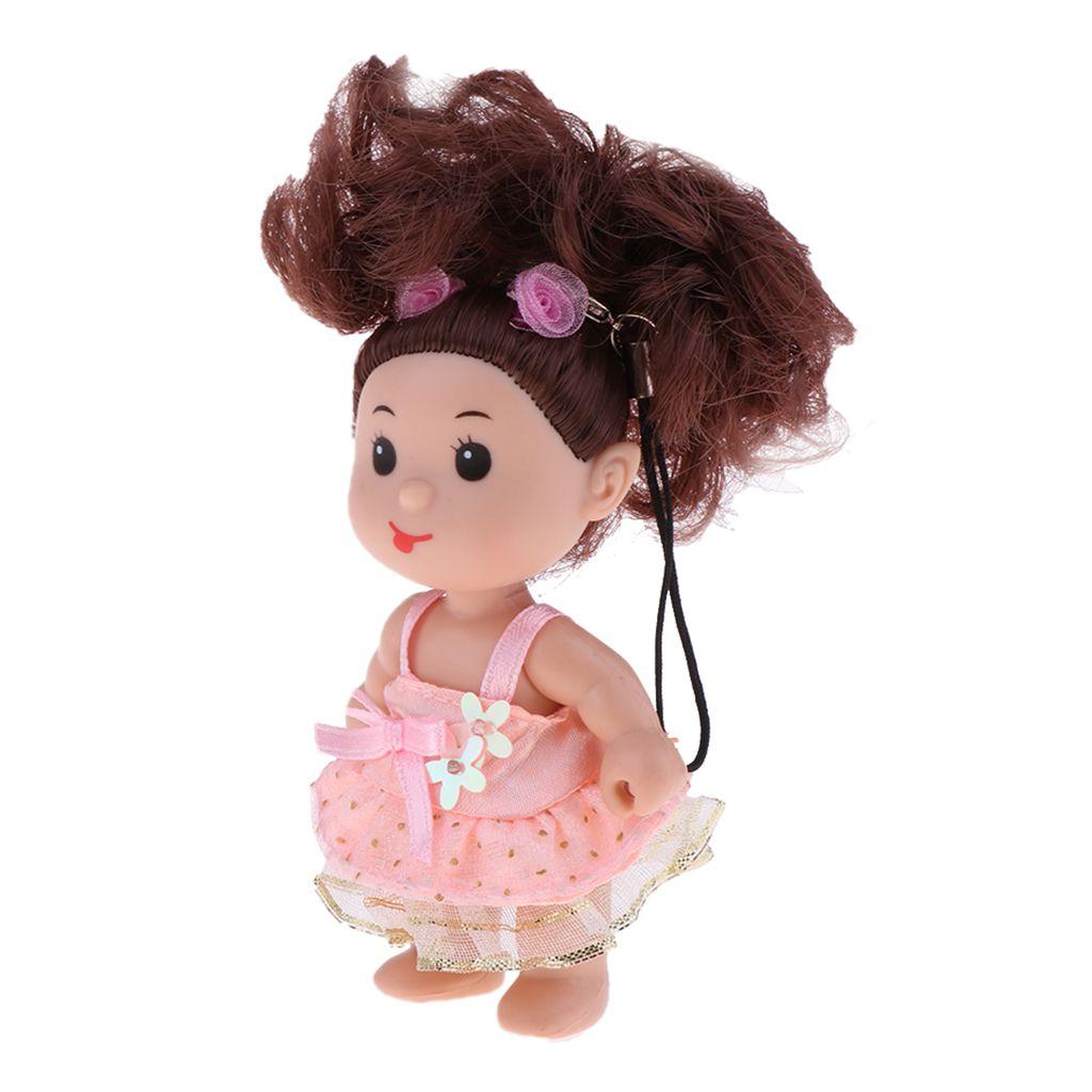 10cm cadena linda chica Clave muñeca llavero del teléfono del bolso del coche colgando juguetes para niños