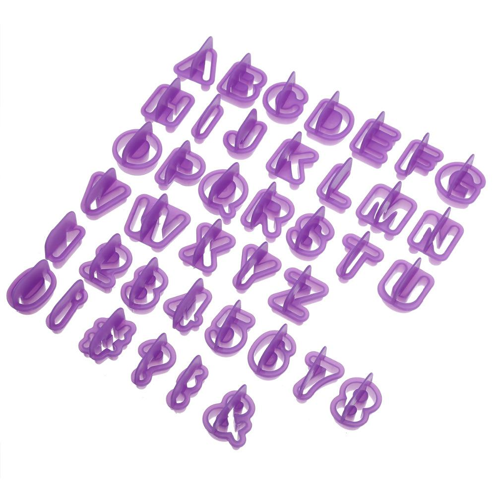 40pcs Alphabet Number Character Letter Cookie Cutter Fondant Cake Biscuit Baking Mould DIY Cake Decorating Tools with