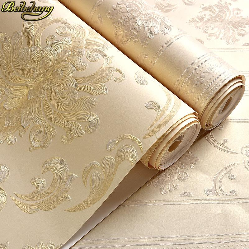 papel de parede 3d Europe Damask Wallpaper Modern 3d floor painting Wall Paper Roll living room decoration