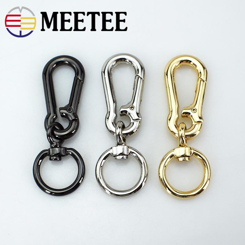 5pcs Meetee Bags Dog Buckle Snap Hook Bag Hanger Lobster Clasp DIY Sewing Swivel Key Ring Chain Buttons Leather Craft F1-30