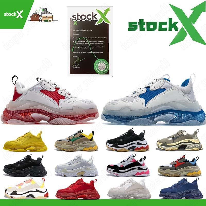 2020 Triple S Designer Sneakers triplicar-se do pai 3,0 Mens Casual sapatos de luxo Sapatos Kanye Vintage vovô Old Tripler mulheres des chaussures
