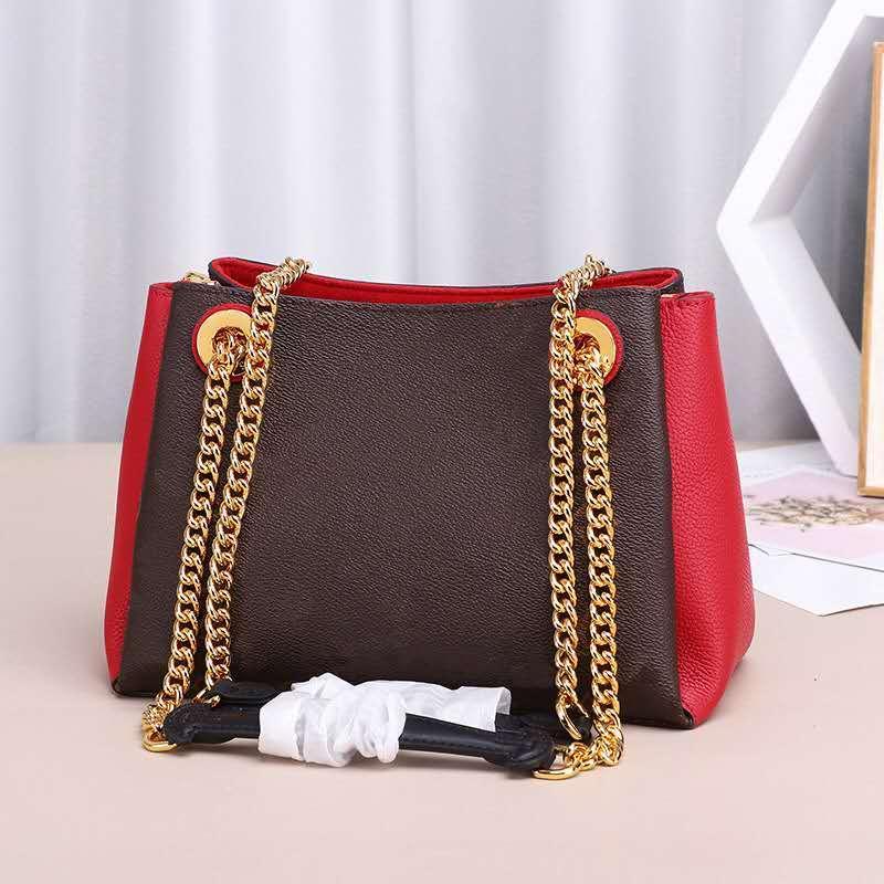 2020 new arrivel Designer luxury handbags purses Fashion Brand women shoulder bag 24cm Lady Leather bag Gold Chain 43777
