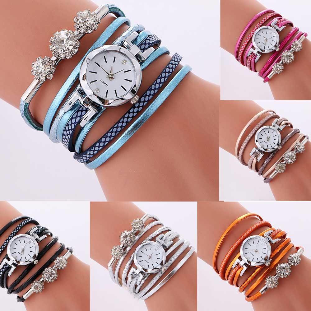 top brand bussiness luxury rhinestone leather bracelet watch women ladies quartz watch casual wrist watches relogio feminino