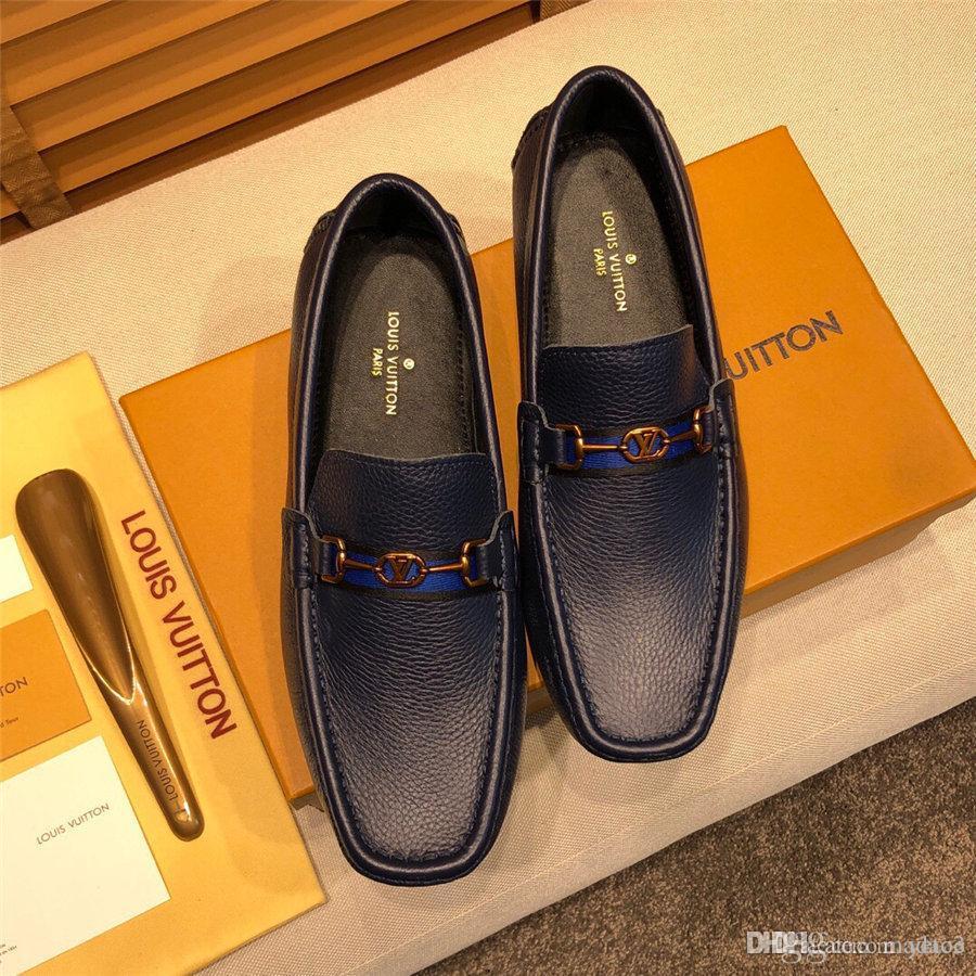 Oxfords Cavalheiro 20ss Hot Sale Men Couro Casual sapatos de luxo Shoes condução Homens Loafers Dress Shoes For Men Big Size 46 YETC3