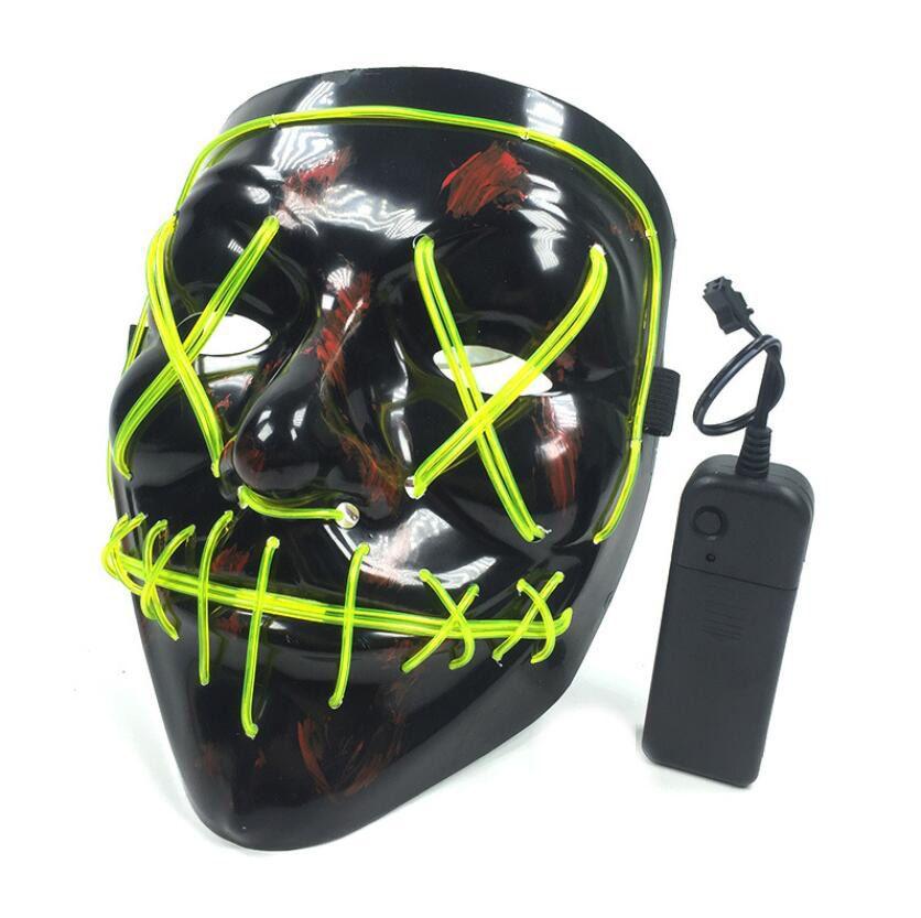 Máscara de Halloween Rave Purge Masks Horror LED Máscara de alambre Light Up Máscara para Festival Cosplay Decoración Decoración Divertida Electoral Partido