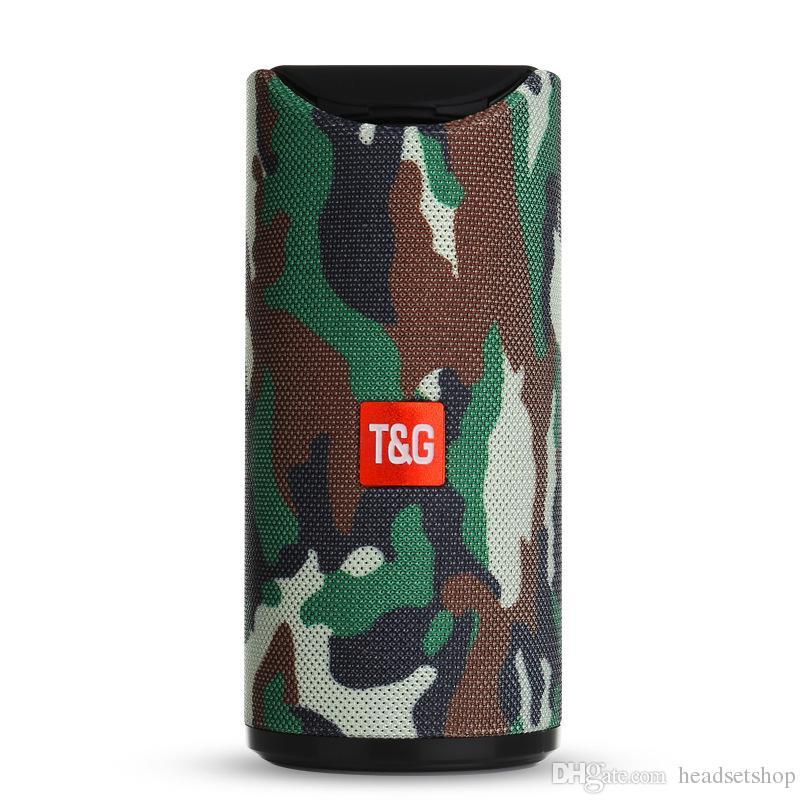 Popular TG113 fabric bluetooth speaker FM radio function built-in microphone speakerphone bluetooth speaker factory direct sales