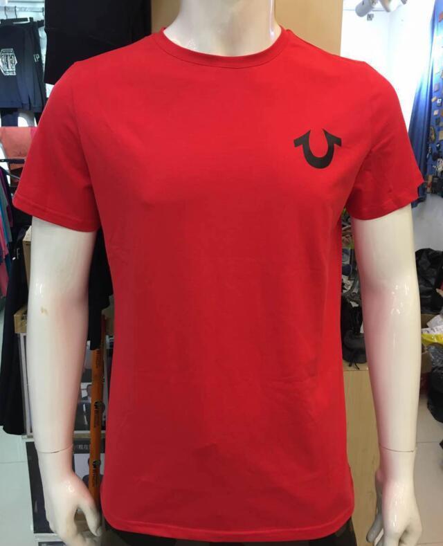 T3 High Quality USA Rosso Nero Bianco Mens Robin True Jeans T-Shirt da polo con ali Real American Jeans Mtorcycle Club Slim Manica corta