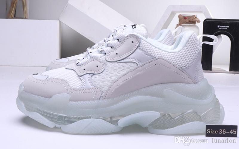 2019 Triple-s мужская дизайнерская обувь для женщин Модные кроссовки старинные Kanye старый дедушка тренер triple S роскошные ботинки папы