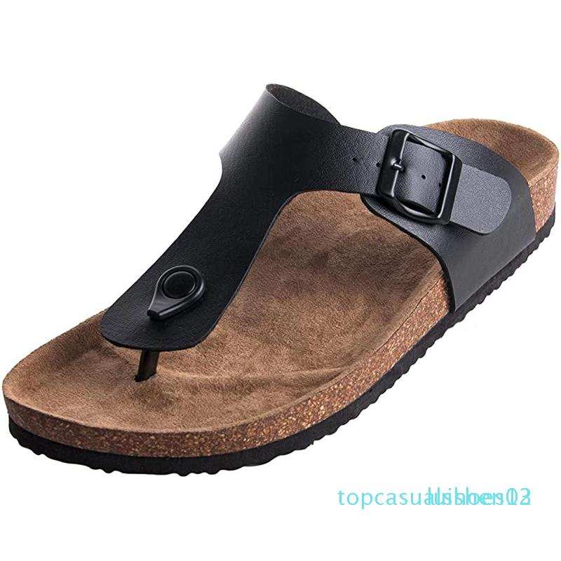 Female Gizeh Thong Flip Flops Cork Sandals Platform Footbed Summer Beach Slippers Casual Style for Women t13
