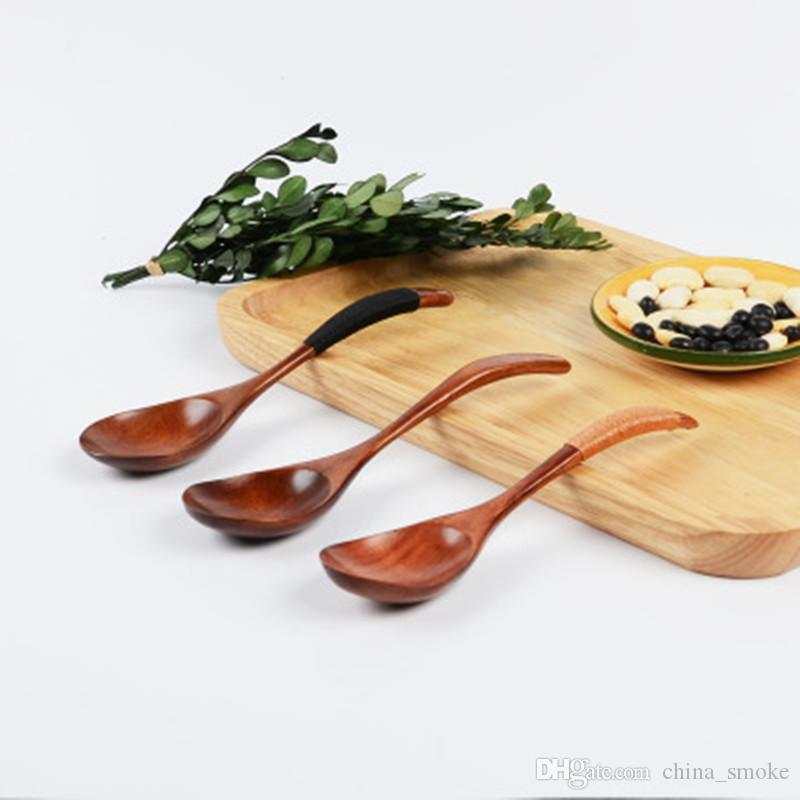 Wooden Spoon Bamboo Kitchen Cooking Utensil Tool Soup Teaspoon Catering Spoon