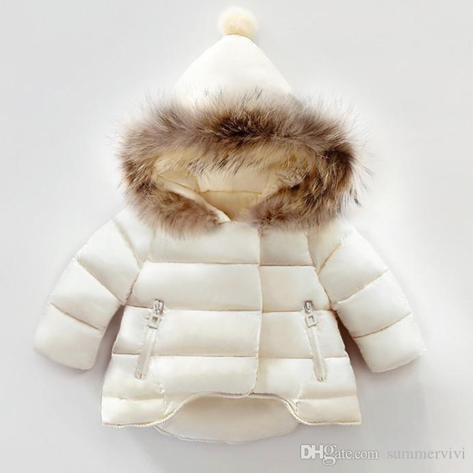 Chirstmas الأولاد مبطن سترة الاطفال فو الفراء مقنعين طويلة الأكمام معطف قمم الخريف الشتاء الأطفال رشاقته الدافئة أبلى طفلة ملابس F1549