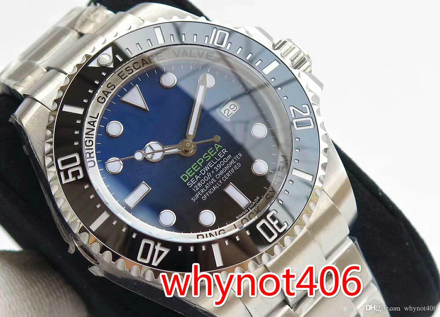 Luxury watch 116660-98210 ghost king, ceramic ring mouth, sapphire mirror sliding buckle.Waterproof depth of 300 meters.You can swim in the