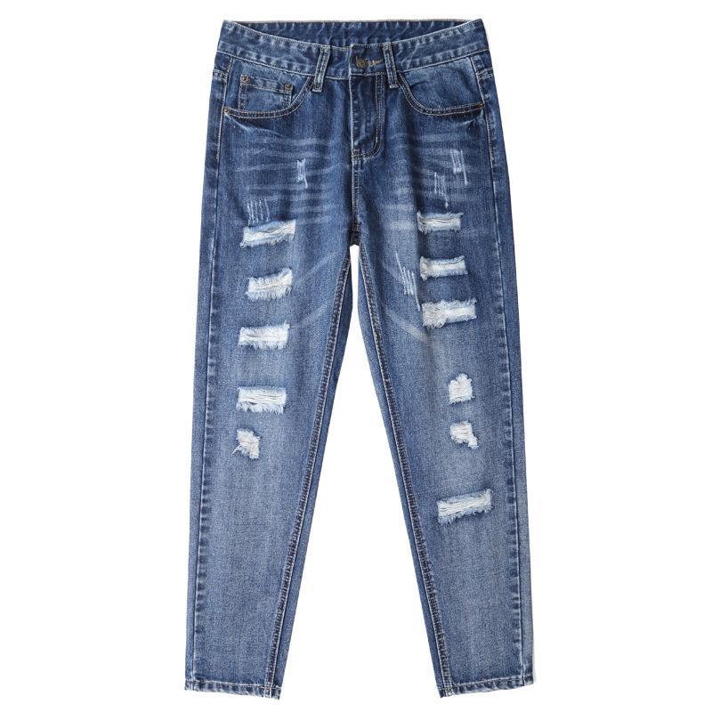 versione attuale coreana di jeans allentati delle donne pantaloni nineminute 2019 nuovi daddys rete rosso highwaist pantaloni diritti