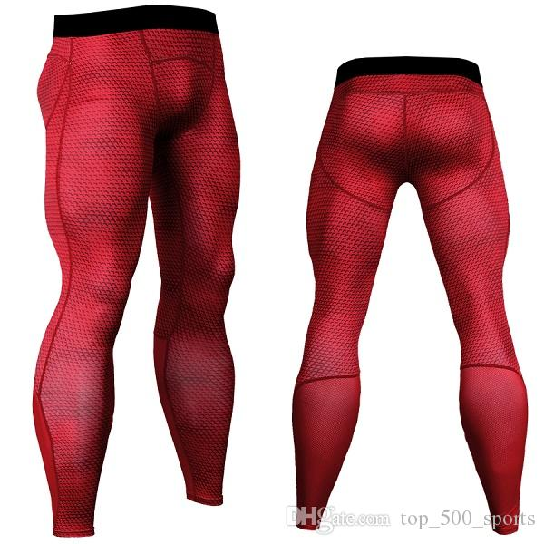 Wholesale-Mens Gym Clothing Sports Tights PRO Elasticc Basketball Long Leggings Pants Men Compression Camouflage Pants For Men Size S-XL