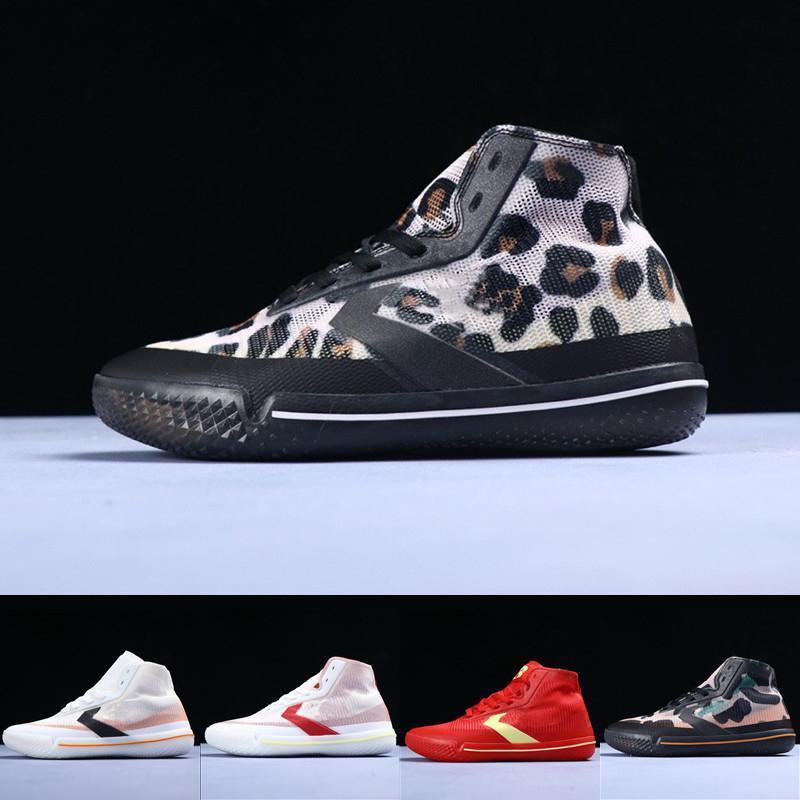 2020 New Conver Pro Bb Translucent Mesh Woven React Technology Insole Black Leopard Men Sports Shoes Men Basketball Shoes 40-46