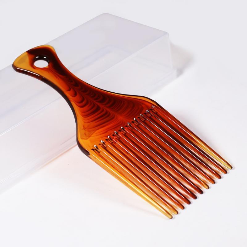 Peine de plástico Anti Desenredante Rizado Afro Peluquería Engranaje Peine Herramientas para el cabello