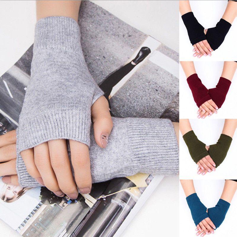 Frauen Stilvolle Handwärmer Winter Handschuhe Frauen Arm Crochet Knitting Cotton Fäustling Warm Fingerlose Handschuhe Gants Femme