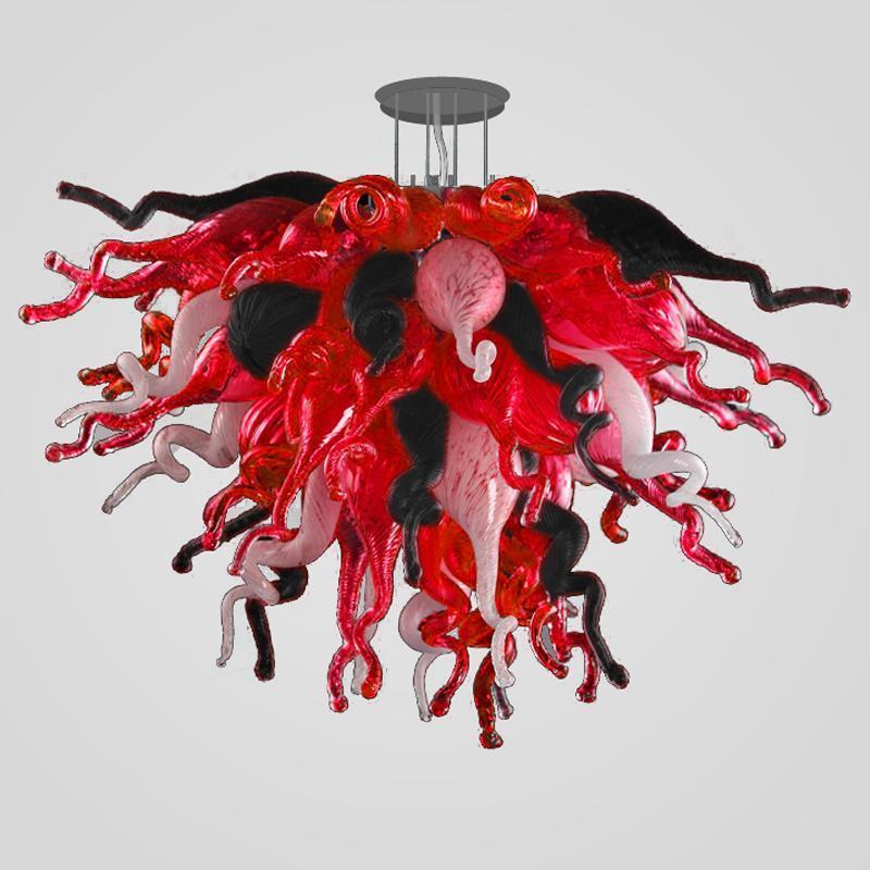 Современные лампы деревенские освещения светильники дома декор 28 дюймов черный красный белый цвет светодиодный CE ul lewar стекло люстра освещение