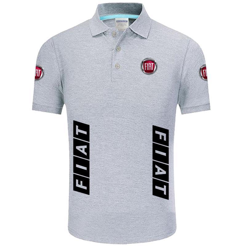 Summer High quality brand Fiat logo polo short sleeve shirt Fashion casual Solid Polo Shirt unisex shirts
