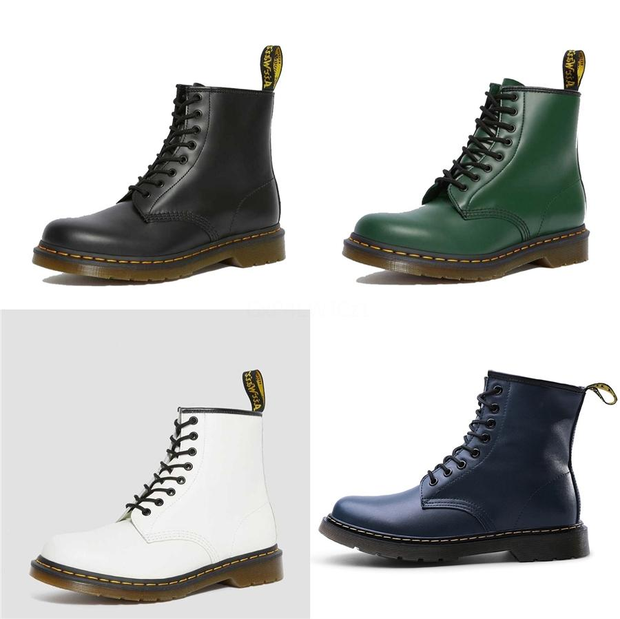 European American New 2020 Frühlings-Herbst-Einzel Stiletto-Platz Heels Simier Martin Stiefel Runde Zehen Perle Ankle Boots # 122