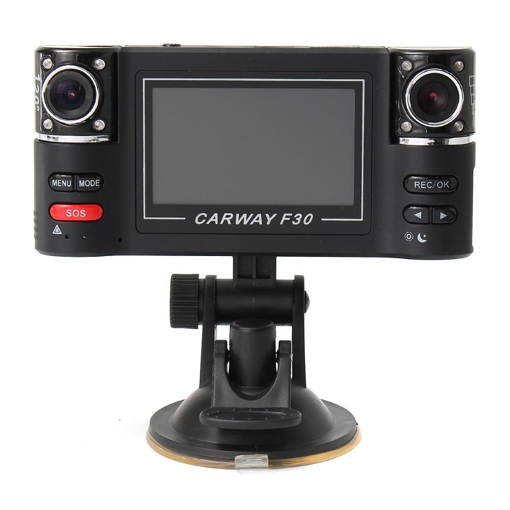 "Freeshipping 1080P Night Vision Car DVR 2.7"" TFT LCD HD Rotated Dual Lens Dash Camera Vehicle Digital Video Recorder Camcorder"