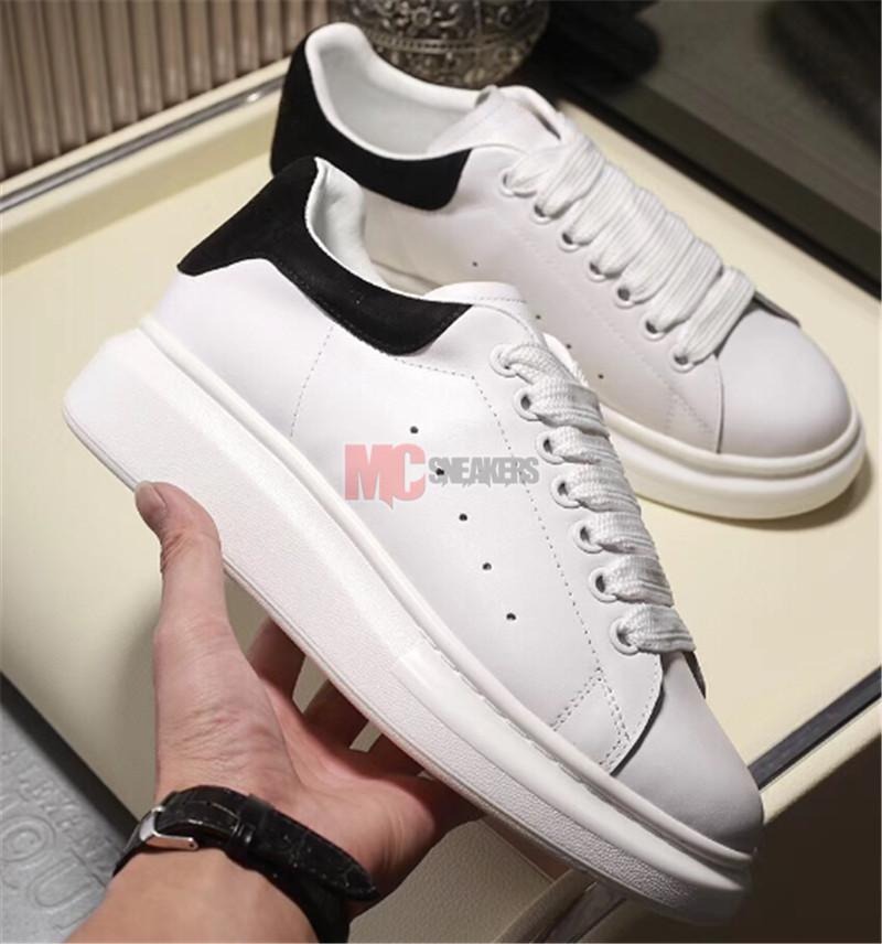 2020 Uomo Donna scarpe casual 3M riflettenti sneakers in pelle nero bianco delle donne di modo pattini piani formatori Dimensione 36-45