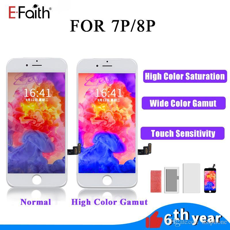 Pantalla LCD de alta gama de colores calidad para el iPhone Plus 8/7 Plus pantalla táctil del panel digitalizador Asamblea Frame gafas de sol Pass