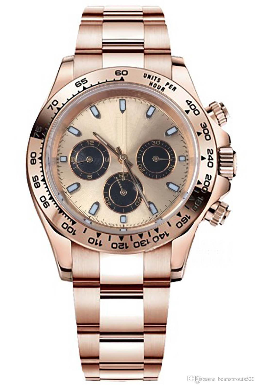 B45The Master Design Designer-Uhren Luxusuhr Bewegung Uhren, m116505 Serie Uhr, Fall Rose, Rose Edelstahlband, stieg dia