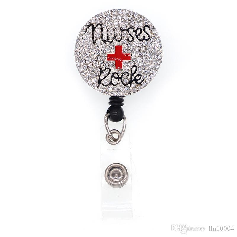 nurse badge id badge clip badge ID name badge accessories RN badge ID badge reel nurse badge reel Hand sanitizer holder Badge reel