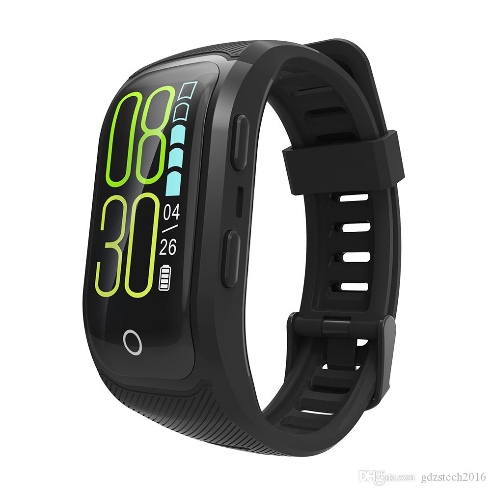 S908 plus Color Screen Activity Fitness Tracker smart band IP68 Waterproof GPS Heart Rate Monitor sport wristband bracelet DHL shipping