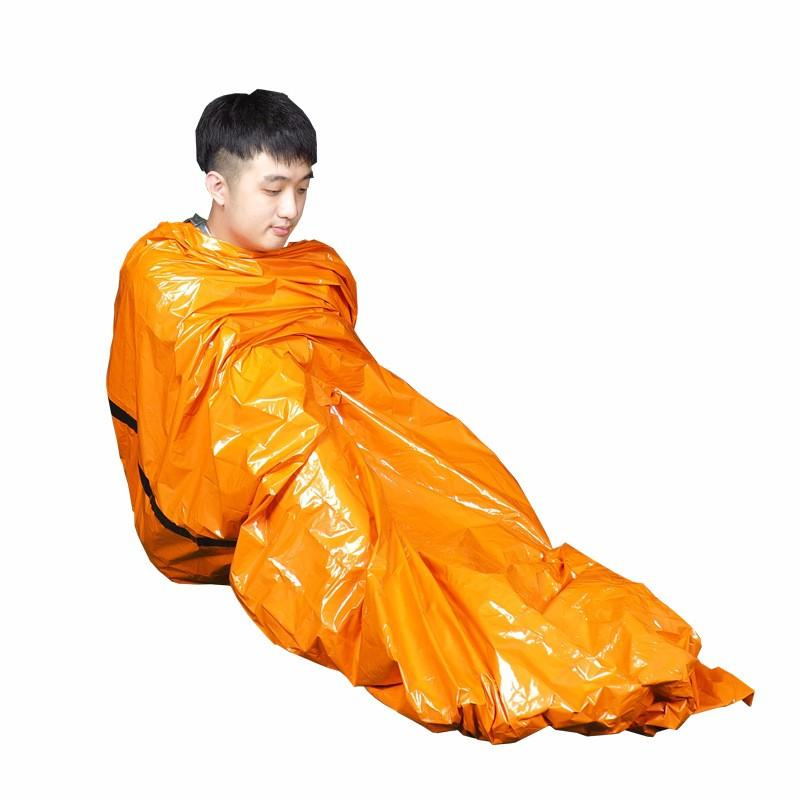 First Aid Sleeping Bags Meet An Emergency Disaster Relief Cold Proof Heat Insulation Heat Preservation Orange Outdoors PE 7 5mlF1