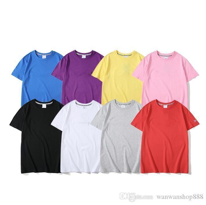 Японский прилив бренд пара свободные футболки письмо Вышивка C хип-хоп Женская футболка мода хлопок мужская футболка тройники лето Новый мужчины T
