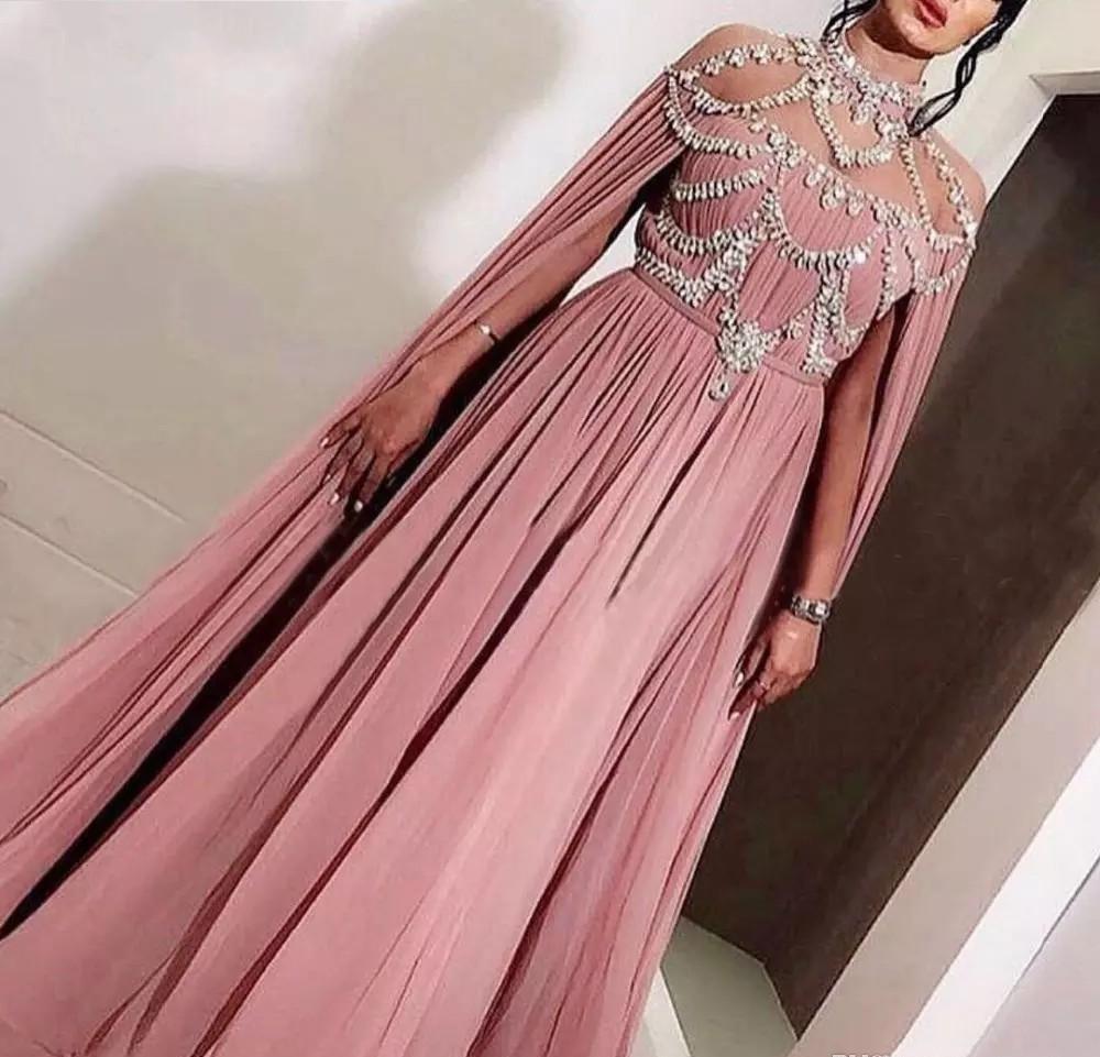 Arabic Dubai Caftan Style Chiffon Evening Dress 2019 Cheap Holiday Women Wear Formal Party Prom Gown Custom Made Plus Size