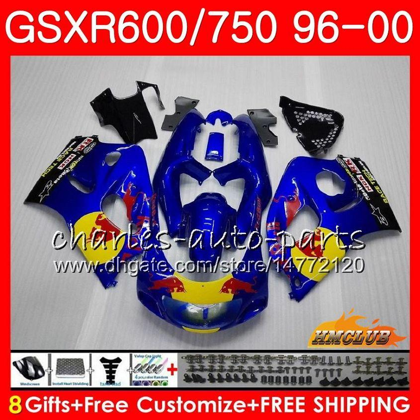Corpo per SUZUKI SRAD GSXR 750 600 GSXR600 GSXR750 96 97 98 99 00 Yellow Red Hot 1HC.5 GSXR750 GSXR600 1996 1997 1998 1999 2000 carenatura kit