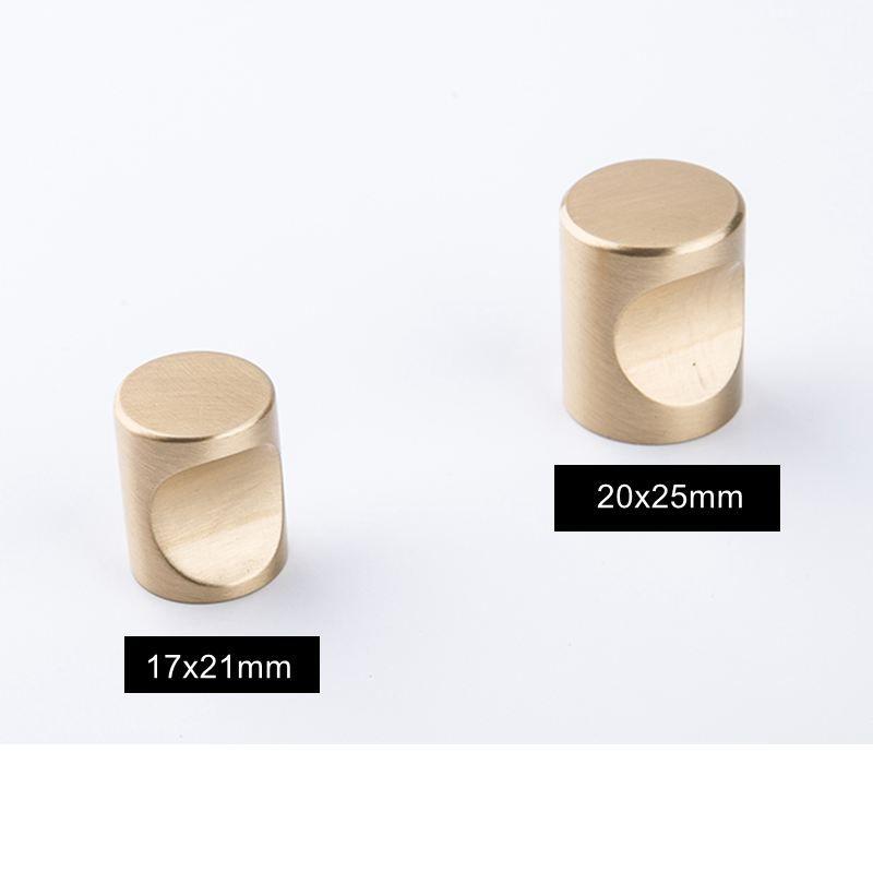 Cocina de oro Perillas del gabinete de latón macizo Muebles modernos Tiradores de los mangos Tiradores de un solo orificio Perillas Armario Manija de puerta Precio de fábrica