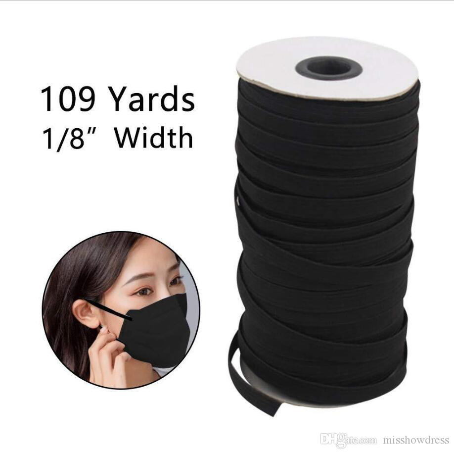109 Yards Length DIY Braided Elastic Band Cord Knit Band Sewing Widely used for masks 3 mm 4 mm 5 mm
