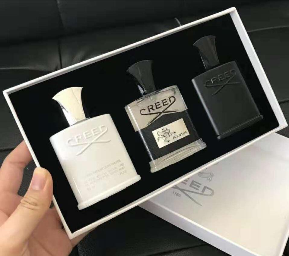 Neue Creed Herren Duft Set 30ml * 3 stücke Tragbare Duft Kits Langlebiger Gentleman Parfüm Sets Erstaunlicher Geruch Freies Verschiffen